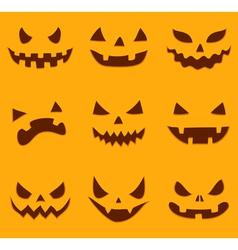 Pumpkin carving vector image