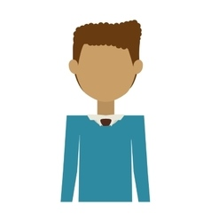 Half body man wearing formal suit without face vector