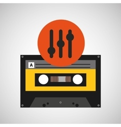Frequency music cassette tape vector