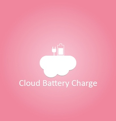 Cloud battery charge logo vector