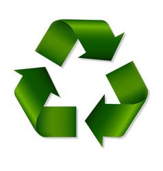 Recycle green symbol vector