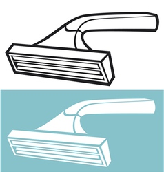 Disposable shaving razor vector