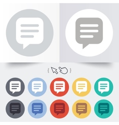Chat sign icon speech bubble symbol vector