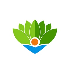 Ecology bio leaf abstract logo vector