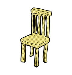 Comic cartoon old wooden chair vector