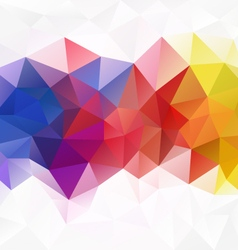 Full spectrum rainbow abstract polygon triangular vector