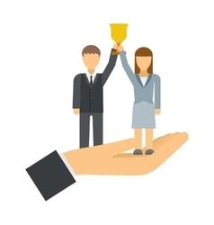 Successful team business leaders corporate vector