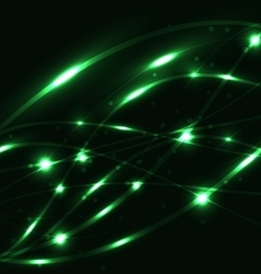 Abstract green light glowing background vector
