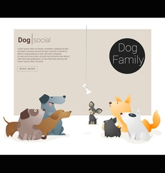 Animal banner with Dog for web design 1 vector image vector image