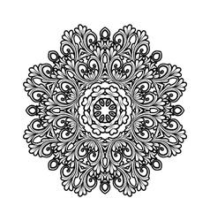 Black and white decorative ornament vector