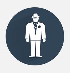Businessman icon mafia gangster silhouette symbol vector