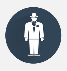 Businessman icon Mafia gangster silhouette symbol vector image vector image