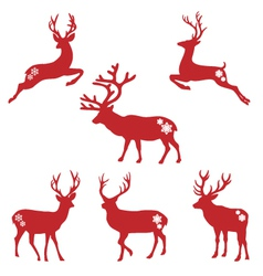 Christmas deer stags vector image
