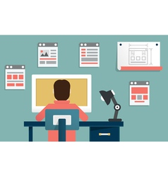 Design and programming vector image vector image