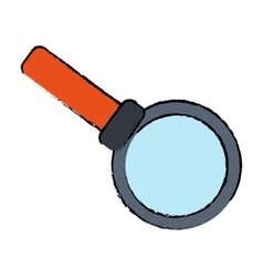 Drawing search loupe magnifier tehcnology vector