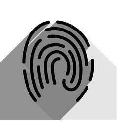 fingerprint sign black icon vector image
