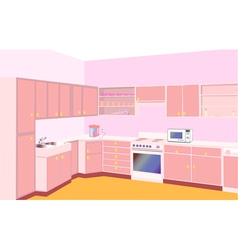 furniture on kitchen by set modern vector image