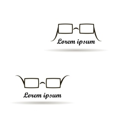glasses logo design on a white background vector image vector image