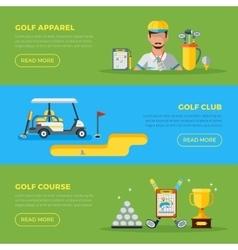 Horizontal golf banners vector
