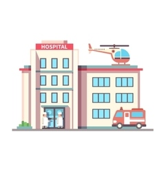 Hospital building flat style vector image