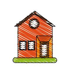 House facade doodle vector