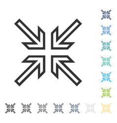Implode arrows icon vector
