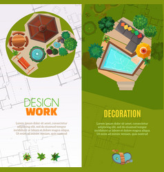 landscape design top view banners vector image vector image