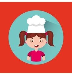 Little chef kids menu vector