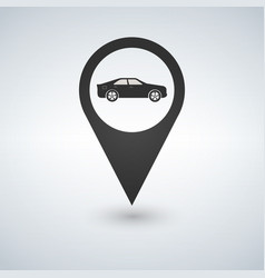 map pointer for transport car mark vector image