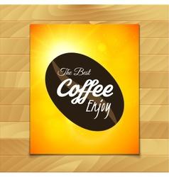 Menu template for restaurant the best coffee enjoy vector