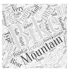 Mountain bike designs word cloud concept vector