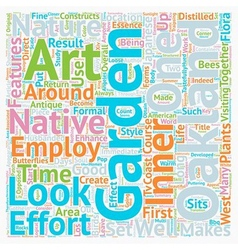Native flora art an oakland garden makes text vector