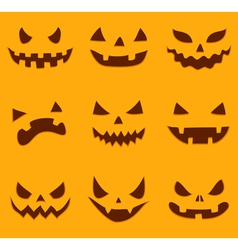 Pumpkin carving vector image
