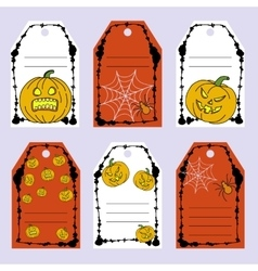 Set gift tags stock set of halloween vector
