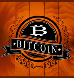 sticker of bitcoin symbol vector image