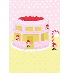 Strawberry cheesecake home and background vector