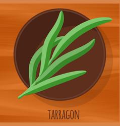 tarragon flat design icon vector image vector image