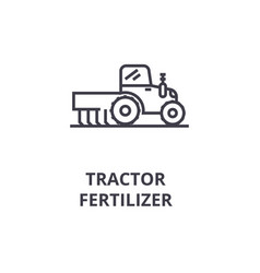 Tractor fertilizer line icon outline sign linear vector