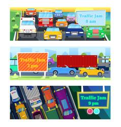 Traffic road jam transportation problems vector