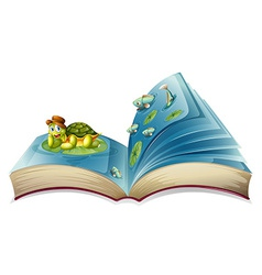 Turtle book vector