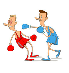 Two boxers fighting vector