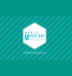 World music day celebration style background vector