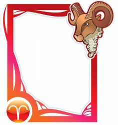 Zodiac frame series aries vector