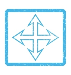 Expand arrows icon rubber stamp vector