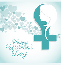 happy womens day female symbol card vector image