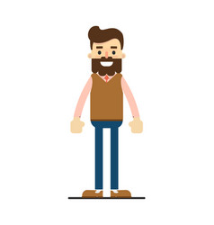 Young european hipster in sweater and pants vector