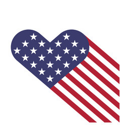 Usa flag hearts shape vector
