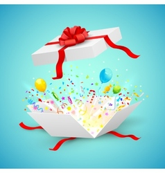 Celebration surprise gift vector