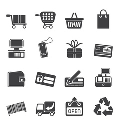 Simple online shop icons vector