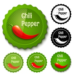 Red chili banners vector